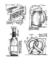 "Tim Holtz Cling Stamps 7""X8.5""-Beer Blueprint, , hi-res"