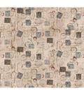 Tim Holtz Cotton Fabric-Correspondence Taupe