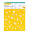 Darice® 6\u0027\u0027x6\u0027\u0027 Reusable Self-Adhesive Stencil-Starlite