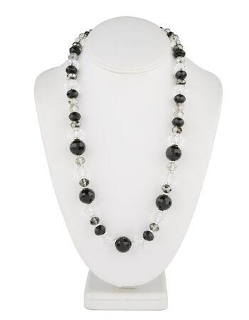 Short Multi Necklace Jet Crystal