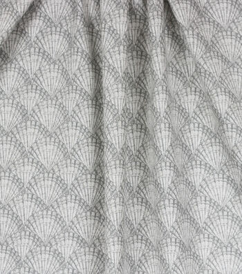 Home Essentials™ Print Fabric 45''-Natural Scallops