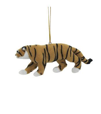 Maker's Holiday Christmas Fur Tiger Ornament