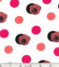 Keepsake Calico™ Cotton Fabric 43\u0022-Coral Flower On Dots