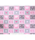 Nursery Fleece Fabric 59\u0027\u0027-Dream Big Patch