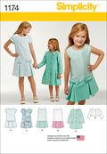 Simplicity Pattern 1174HH 3-4-5-6 -Children
