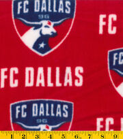 "FC Dallas Fleece Fabric 58""-Logo, , hi-res"