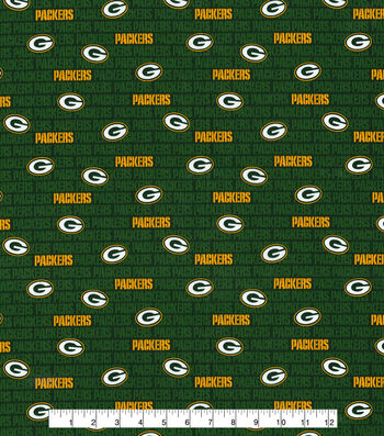 "Green Bay Packers Cotton Fabric 58""-Mini Print"