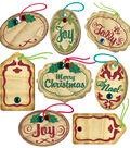 Christmas Oval Tags Embellishment