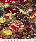 Asian Inspired Cotton Fabric 44\u0022-Mythical Dragon Metallic