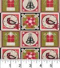 Maker\u0027s Holiday Cotton Fabric 43\u0022-Christmas Patches