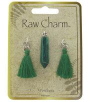 Naturals Raw Charm Green Tassels, , hi-res