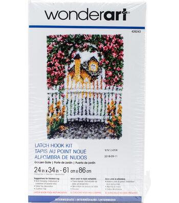 "Wonderart Latch Hook Kit 24""X34""-Garden Gate"