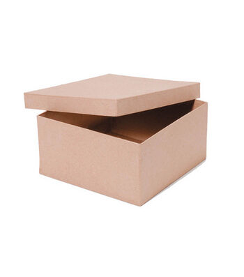 "Darice 9""x9""x4-1/2"" Paper Mache Box"