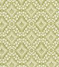 Premium Quilt Cotton Fabric 44\u0022-Lace Diamonds Olive