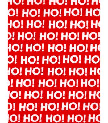 Christmas Cotton Fabric 43''-Ho! Ho! Ho! on Red