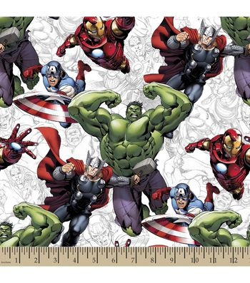 Marvel's The Avengers Print Fabric
