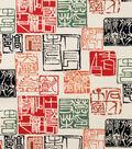 Alexander Henry Cotton Fabric 44\u0022-Shinto Red