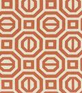 Williamsburg Multi-Purpose Decor Fabric-Georgian Geo/Persimmon