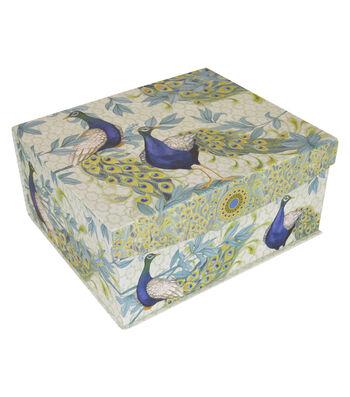 Organizing Essentials™ Large Flip Top Box-Peacock Plums