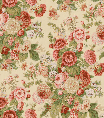 """Waverly Upholstery Fabric 54""""-Sitting Pretty Antique"""