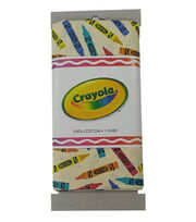 Riley Blake© Crayola® Fabric 1yd Cut-Tossed Crayons Yellow, , hi-res