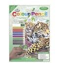 Royal Brush 8-3/4\u0027\u0027x11-3/4\u0027\u0027 Colour Pencil By Number-Jaguar Pool