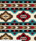 Anti Pill Fleece Fabric 58\u0027\u0027-Red Southwest Stripe