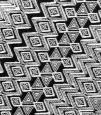"Anti-Pill Fleece Fabric 59""-Diamond Black and Cream"