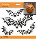 Bat Silhouettes Pumpkin Bling