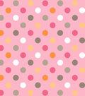 Nursery Fabric- Polka Dots Pink