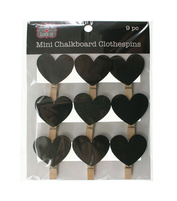 Make It Love It™ Chalkboard Clothespins Hearts