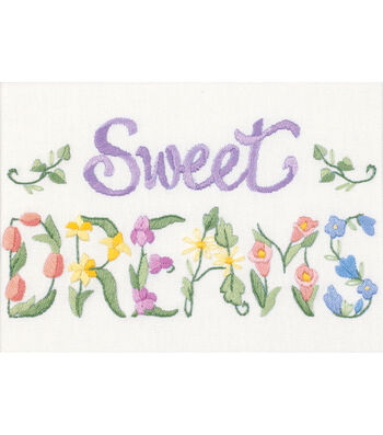 Dimensions Flowery Sweet Dreams Mini Crewel Kit