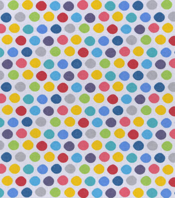 "Nursery Cotton Fabric 43""-Roadway Dots"