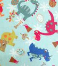 Snuggle Flannel Fabric- Baby Dinos