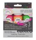Testors 3ct Acrylic Paint Set-Fluorescent