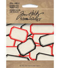 Tim Holtz Idea-Ology 40pk Vial Labels-Red & Black