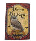 Maker\u0027s Halloween Flag 12\u0022x18\u0022-Happy Halloween & Owl