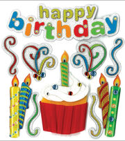 Jolee's Boutique Dimensional Stickers-Happy Birthday, , hi-res