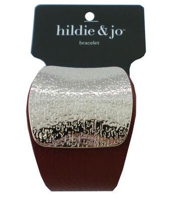 hildie & jo Bracelet-Silver & Burgundy