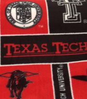 "Texas Tech University Red Raiders Fleece Fabric 58""-Block, , hi-res"