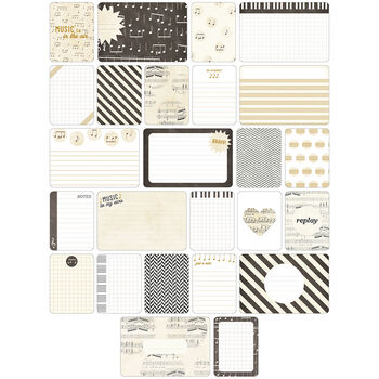 Project Life Themed Cards 40/Pkg-Music