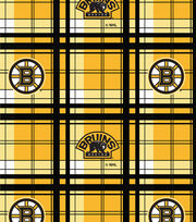 "Boston Bruins Fleece Fabric 60""-Plaid, , hi-res"