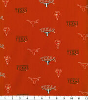 "University of Texas Longhorns Cotton Fabric 43""-Herringbone, , hi-res"