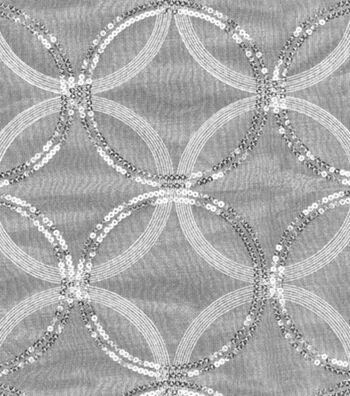 "HGTV Home Sheer Fabric 55""-Sparkle Plenty Silver"