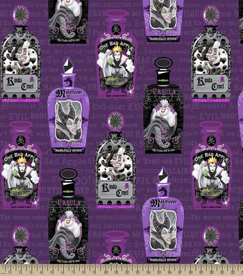 Disney® Villians Print Fabric-Evil Spelling Bee