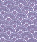 Snuggle Flannel Fabric 42\u0022-Gypsy Dotted Scales Purple