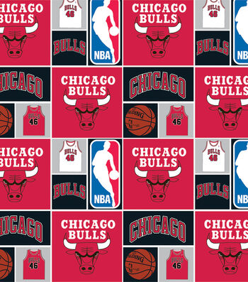 Chicago Bulls Cotton Fabric 44''-Patch