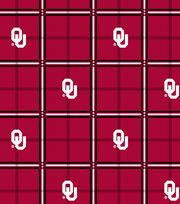"University of Oklahoma Sooners Flannel Fabric 42""-Plaid, , hi-res"