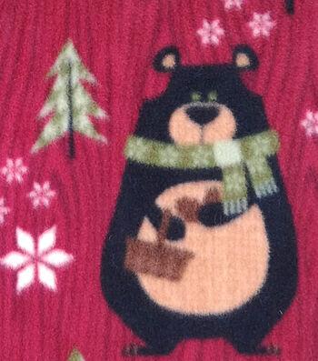 "Anti-Pill Fleece Fabric 59""-Northwoods Bears & Trees"