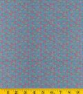 Made In America Cotton Fabric-Gray Stars Allover